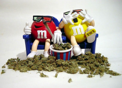 m&m and weed
