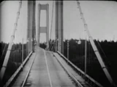 Tacoma Narrows disaster Newsreel with audio