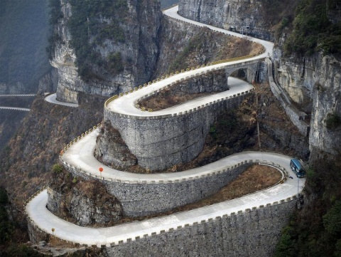 Hairping highway in Austria