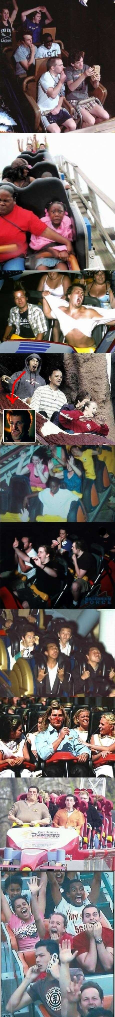 Rollercoaster faces