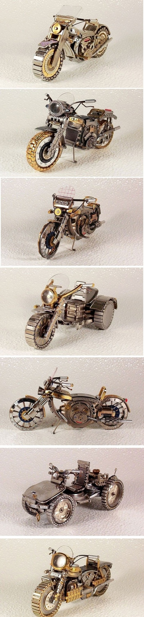 Bikes made from old watches