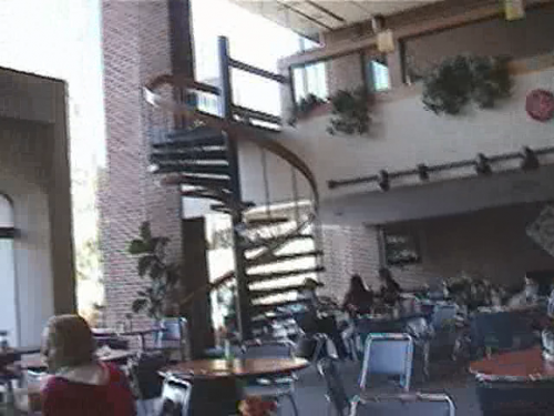 College Student Falls Down Spiral Staircase