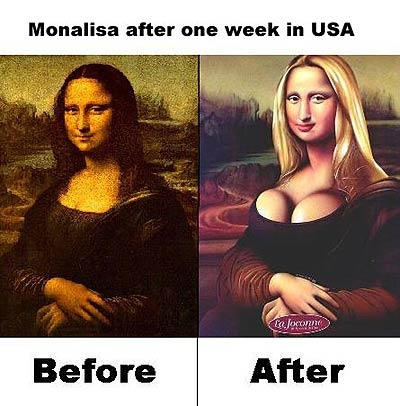 Mona Lisa in USA